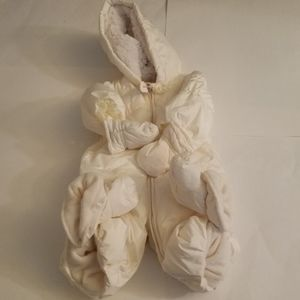 Baby Gap White Snowsuit 0-6 Months